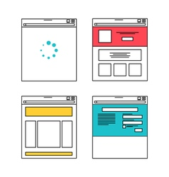 Basic website layout in flat style vector