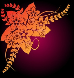 beautiful floral composition vector image