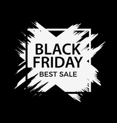 black friday sale banner background with ink vector image
