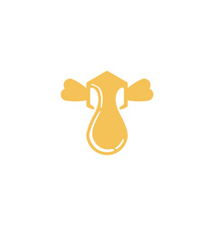 box bee honey flying logo designs inspiration vector image