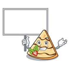 Bring board crepe character cartoon style vector