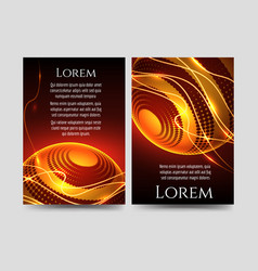 brochure flyers template with light sphere vector image