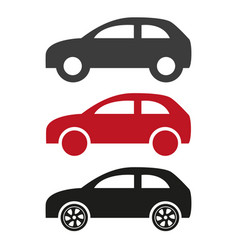 car flat icons on white background vector image