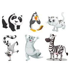 cartoon animals set vector image