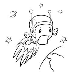 Cartoon boy-astronaut vector