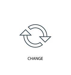 change concept line icon simple element vector image