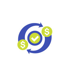 Costs optimization efficiency icon on white vector