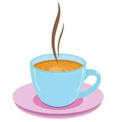 cup hot drink vector image
