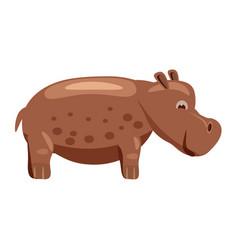 Cute hippopotamus behemoth hippo animal trend vector