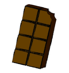 Delicious chocolate bar vector