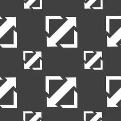 Deploying video screen size icon sign Seamless vector