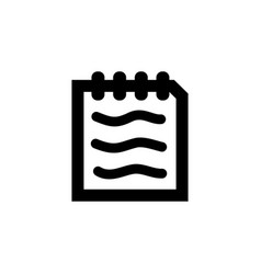 document icon in flat style for apps ui websites vector image
