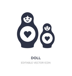 doll icon on white background simple element from vector image