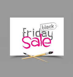 Drawing black friday sale vector