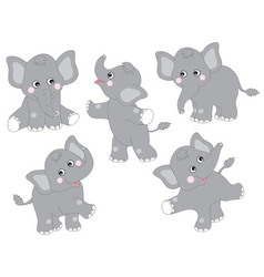 Elephants Set vector