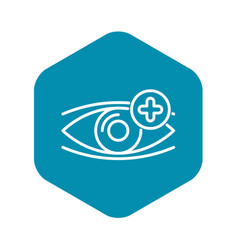 Eye plus vision icon outline style vector