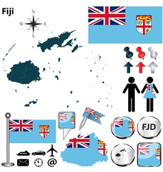 Fiji map vector image