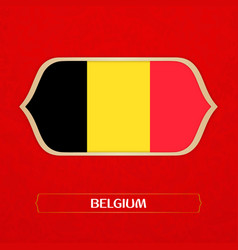 Flag of belgium is made in football style vector