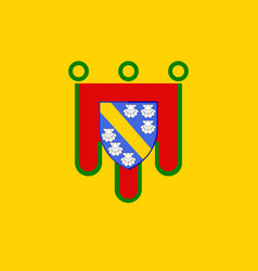 Flag of cantal in auvergne-rhone-alpes region in vector