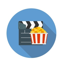 Flat Design Concept Cinema Icon With Long Sh vector image