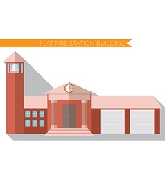 Flat design modern of fire station building icon vector image