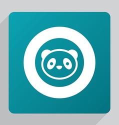 Flat panda icon vector