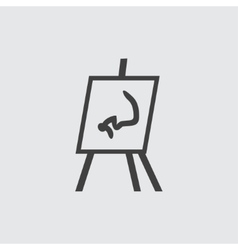 Flipchart icon vector