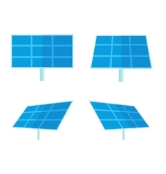 Four solar panels with white background vector image