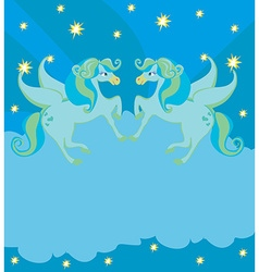 Frame with Pegasus vector image