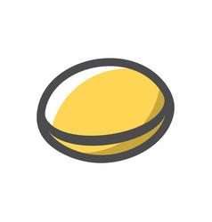 Go game chips icon cartoon vector