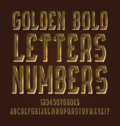golden bold letters numbers dollar and euro vector image