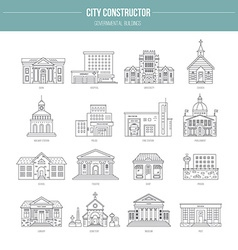 Governmental Buildungs vector
