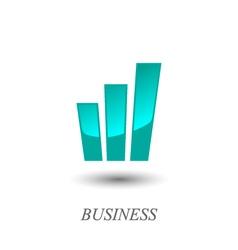 Growth chart logo vector image