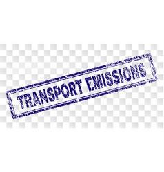 Grunge transport emissions rectangle stamp vector