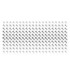 Hammer shape halftone array vector