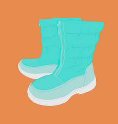 Hand drawn colorful women footwear vector