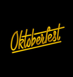 happy oktoberfest poster beer festival decoration vector image