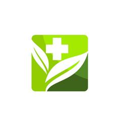 Herbal medicine logo design template vector