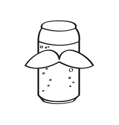 Hipster canned beer vector