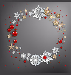 holiday christmas wreath vector image
