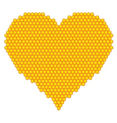 Honeycomb heart vector