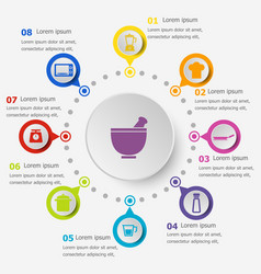 Infographic template with kitchen icons vector