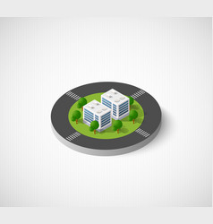 Isometric city icon vector