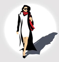 Lady with handbag vector