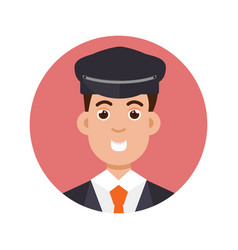 Limo driver character icon vector