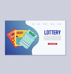 Lottery web template win vector