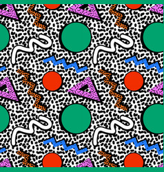 memphis pattern 80s vector image
