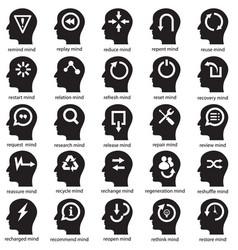 Mind development concept vector