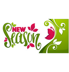 New season spring collection arrival template vector