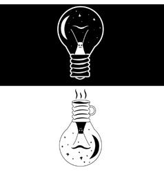 Night lamp snail vector